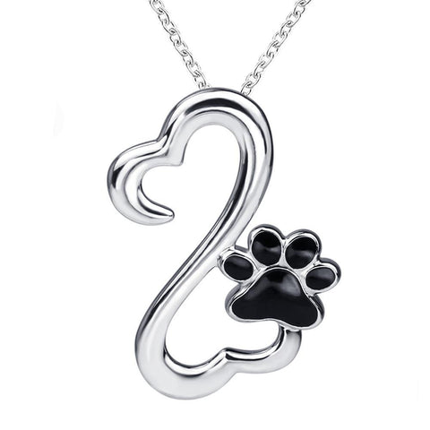 Sterling Silver Paw Chain Pendant