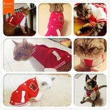 Cat Clothes Casual Style Baseball Uniform | Soft Comfortable Hoodie Warm Cotton Coat.