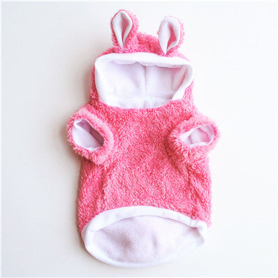 Warm Cute Cat Clothes Easter Rabbit Animals Suit