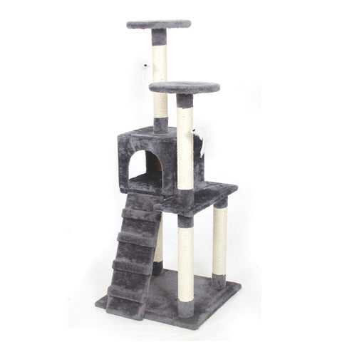Cat Climbing Tree with Toys | Multi-Tiered Cat Scratching Posts