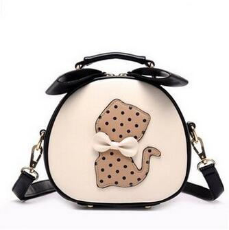 Leather Handbag with Cat Design | Cute Hand/Shoulder Bag