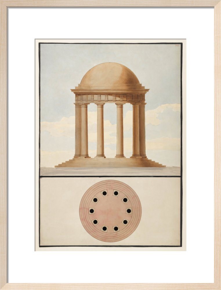 Doric Order: Plan & Elevation of a Monopteral Temple