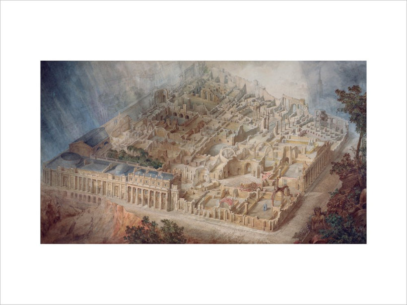 Aerial cutaway view of the Bank of England from the south-east