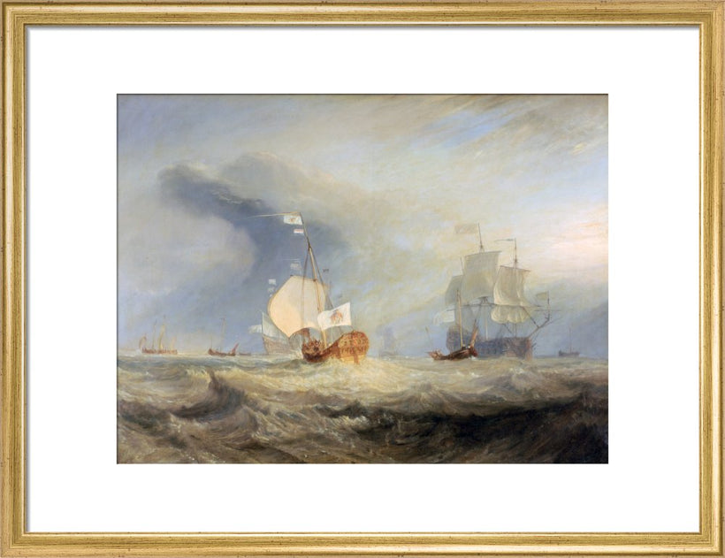 Admiral van Tromp's Barge by J. M. W Turner