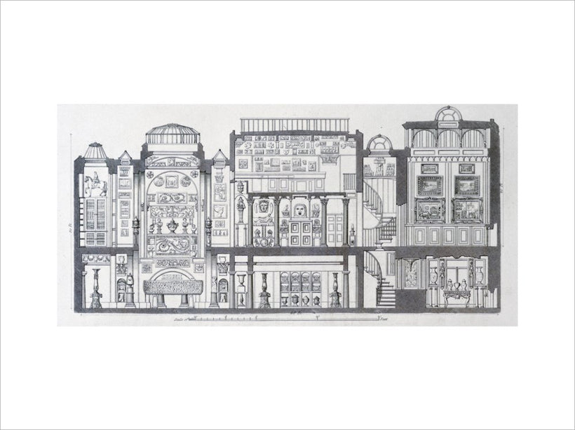A Cross-Section Through Sir John Soane's Museum, 1835