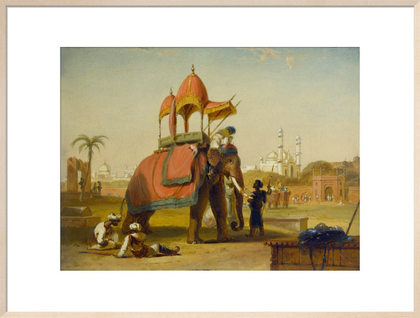 A Caparisoned Elephant - Scene near Delhi (A Scene in the East Indies)