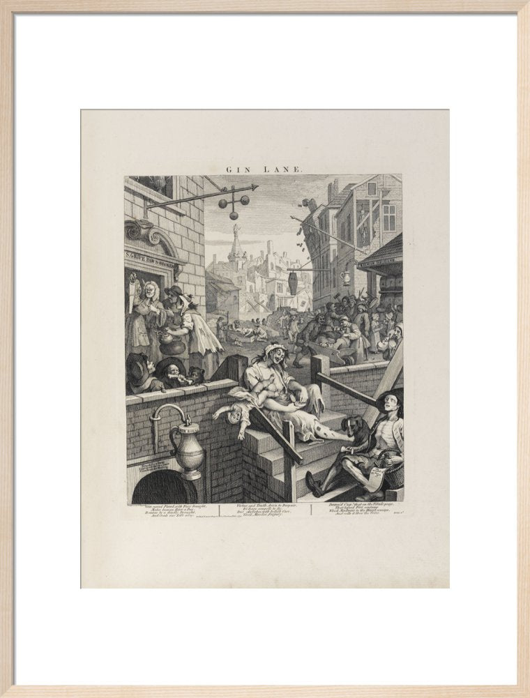 Gin Lane by William Hogarth