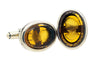 Extasia Amber Glass Oval Cufflinks