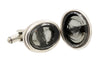 Extasia Grey Oval Cufflinks