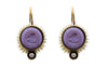 Extasia Purple Intaglio and Pearl Earrings