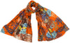 Cecilia Silk Wool Scarf in Orange