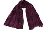 Palladio Plum Silk Wool Scarf