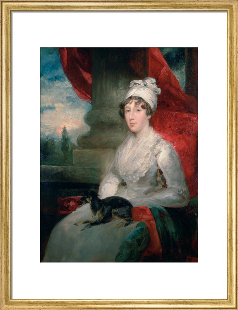 An Unfinished Portrait of Mrs Soane, Painted from a Pencil Sketch by J. Flaxman, RA and a Miniature