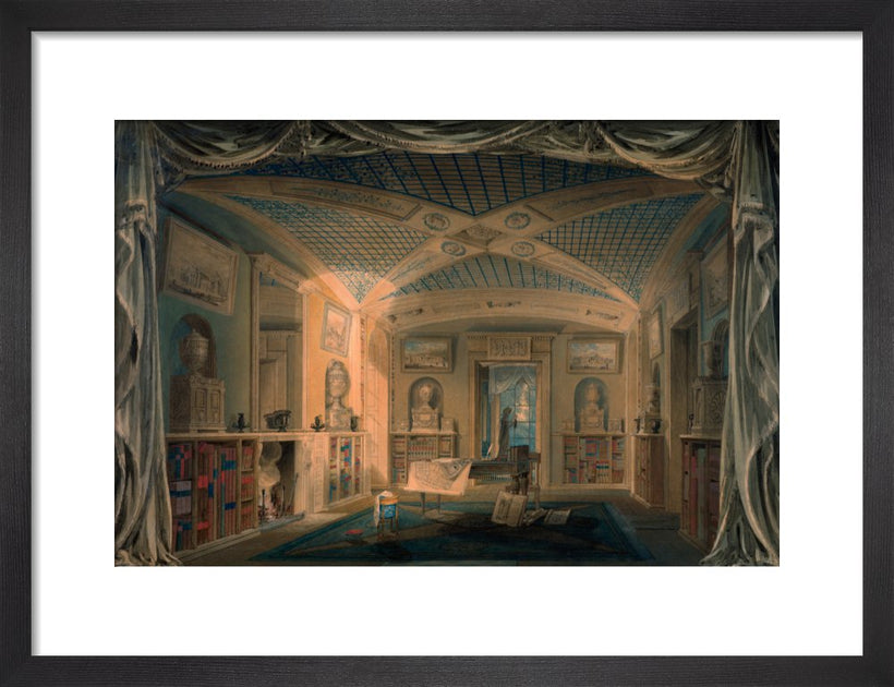 Design Perspective for the Decoration of the Library, Pitzhanger Manor.
