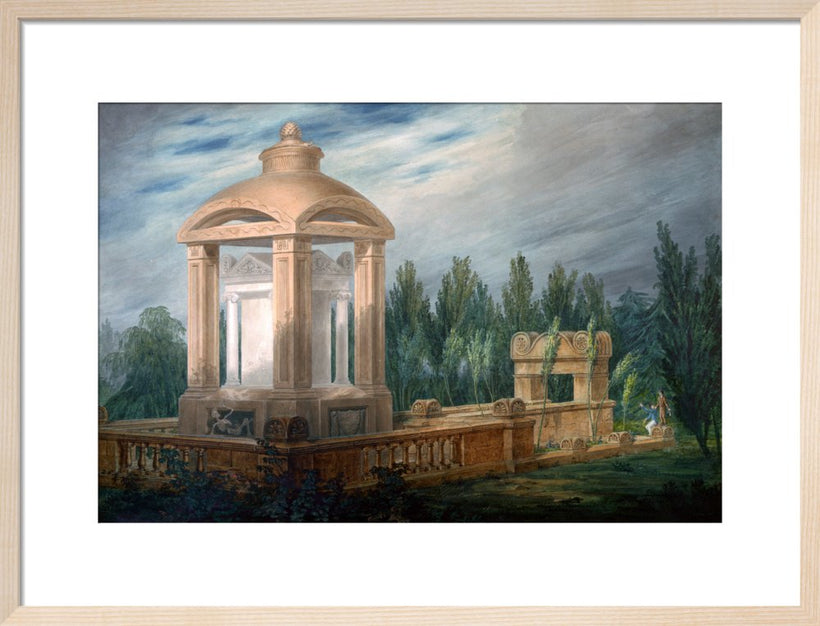 Perspective design showing the Soane family tomb in an imaginary landscape.