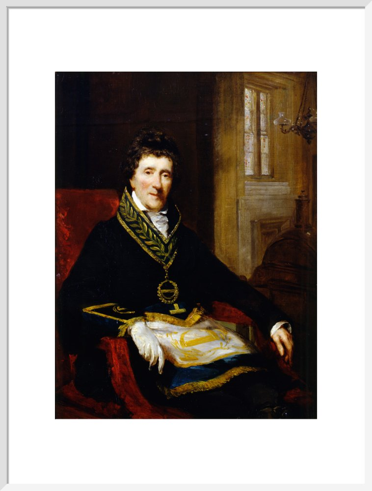 Sir John Soane, in Masonic Costume, as Grand Superintendent and President of the Board of Works