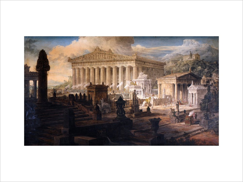 Architectural Composition : A restoration of the Temple of Ceres and other ancient buildings at Eleusis