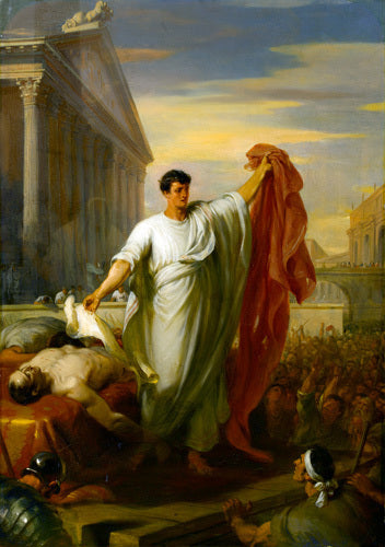 Marc Antony Reading the Will of Caesar