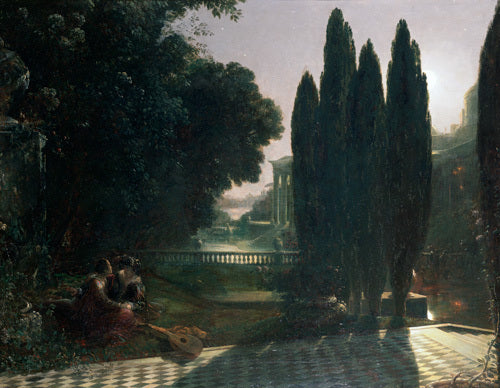 Scene from Shakespeare's 'The Merchant of Venice': Belmont, in the Garden of Portia's House, Lorenzo and Jessica, Act V, Scene 1