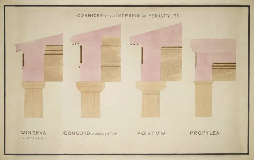 Doric Order: Cornices of Greek Buildings