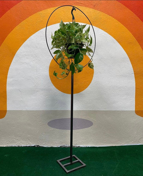 Hand Made Steel Ring Hanging Plant Stands