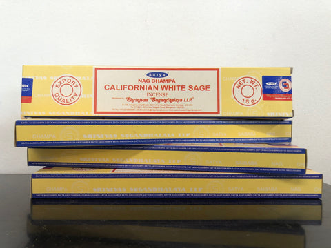 15g Nag Champa California White Sage Incense