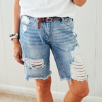 Distressed Bermudas