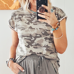The Trixie Camo Knit Top