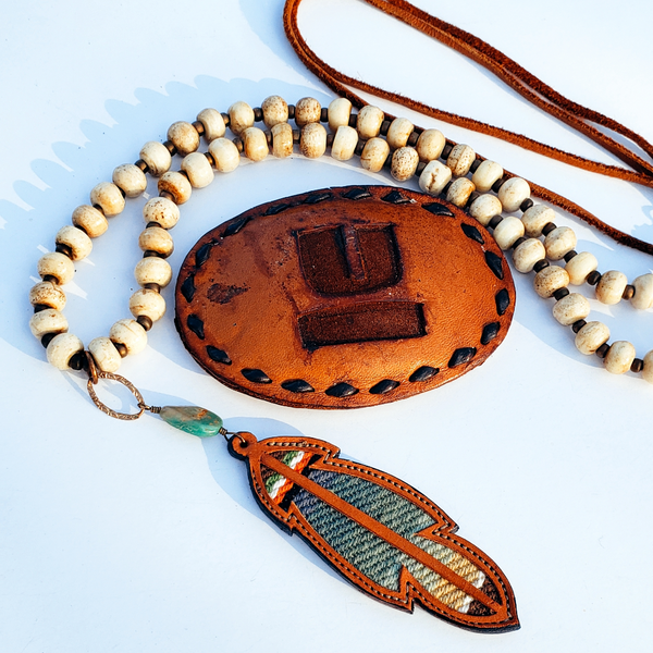 JForks Bone Bead Necklace