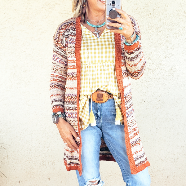 The Tulsa Ikat Cardigan