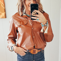 The Jennings Vegan Leather Top