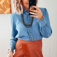 The Osage Chambray Blouse