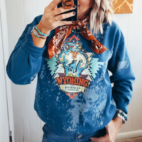 Bleached Wyoming Rodeo Sweatshirt