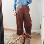 The Austin Vegan Leather Pants