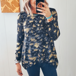 The Cleo Metallic Leopard Sweater