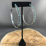The Afton Turquoise Hoops