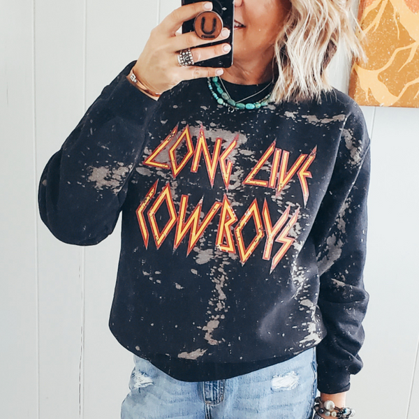 Long Live Cowboys Bleached Sweatshirt