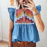 The Jaqueline Chambray Top