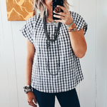 The Robin Gingham Blouse