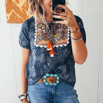 The U Bar Honey Bandana Top