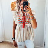 The Grandin Aztec Top