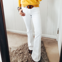 The Charley Flare Jeans in White