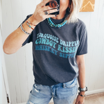 Turquoise, Cowboys and Whiskey Tee
