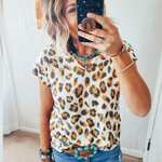 The La La Leopard Top