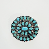 The Flatland Faux Turquoise Pin