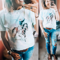 Watercolor Vintage Cowboy Tee