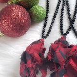 Buffalo Plaid Necklace