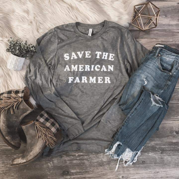 Save the Farmer Long Sleeve Tee