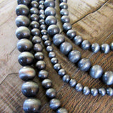 Faux Navajo Pearl Multistrand Necklace