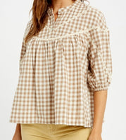 The Luz Benedict Blouse